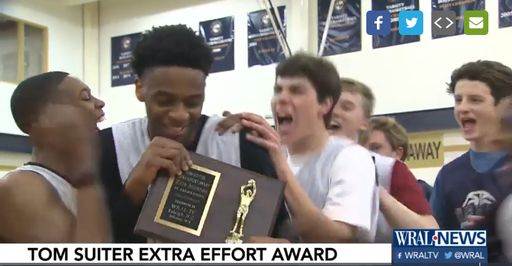 "Kris Monroe Receives ""Extra Effort Award"""